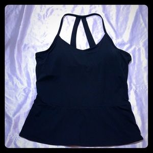 Black fabletics work out tank top
